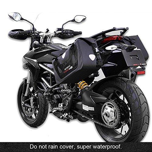 Preisvergleich Produktbild hukoer Tasche Motorrad-Wasserdicht Satteltasche Motorrad Satteltaschen Wasserdicht Reise Gepäck Tasche (2pc),  schwarz