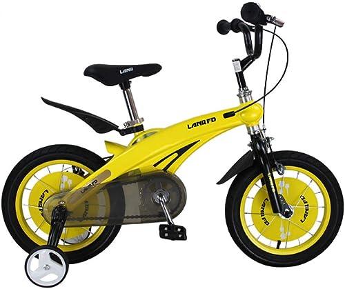Dfghbn fürrad Bike Trainer Kinder Jungen Gilrs fürrad Freestyle Kind Sport fürrad mit Stablizers in Größe Zoll 12,14 Alter 3+ Fitnessger  (Farbe   Gelb, Größe   14 inch(90-110cm))