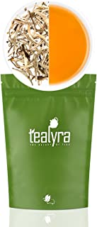 Tealyra - Luxury Jasmine Silver Needle White Losse Tea - Organically Grown in Fujian China - Loose Leaf Tea - Caffeine Level Low - 110g (4-ounce)