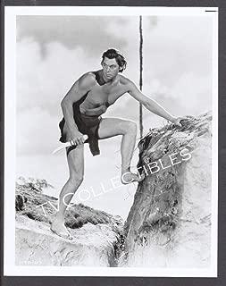 8x10 Photo~ Tarzan Movies ~Johnny Weissmuller Knife on Cliffs