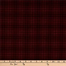 Benartex Another Moose is Loose Wool Plaid Berry Fabric