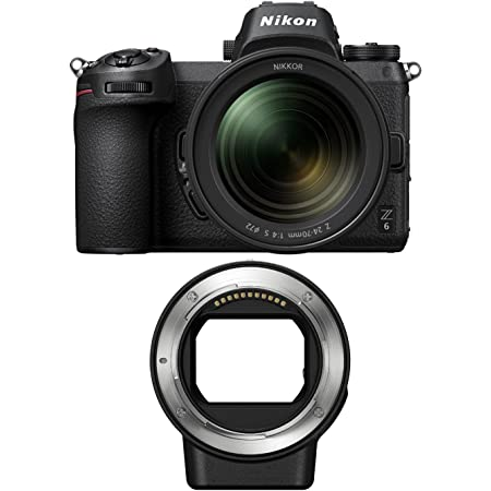 Nikon Z6 Mirrorless Camera with 24-70mm f/4 S Lens and FTZ Mount Adapter Bundle (2 Items)