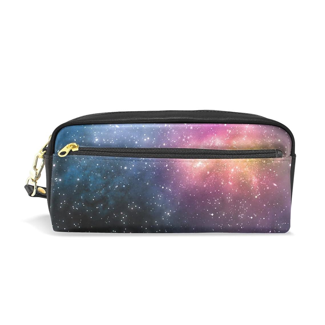 ボット支給アーティファクトAOMOKI ペンケース 化粧ポーチ 小物入り 多機能バッグ レディース 夜空 星空 銀河 惑星
