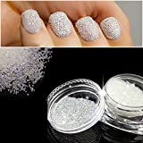QIMEIYA Nail Art Micro Mini Beads 0.6mm AB Crystal Glass Gardient Beads Dazzling Caviar Beads 3D Nail Decoration Nail Art Mini Beads