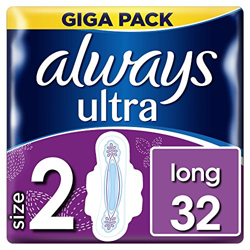 Always Ultra Damenbinden Lang mit Flügeln, Größe 2, 3Stück, 32-count
