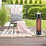 FMXYMC Portable Patio Heater, Outdoor Electric Heaters - Indoor Infrared Space Heater, Terrace Heating Lamp, IP55 Waterproof, Balcony Bistro Coffee Table,with Round Glass Table top
