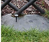 GARDENIX 100 Stück Erdanker Bodenanker Erdnägel für Gartenvlies Unkrautvlies Maulwurfnetz Allzweckplane - 3