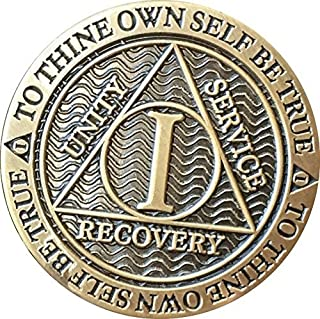 1 Year AA Medallion Reflex Antique Chocolate Bronze Chip