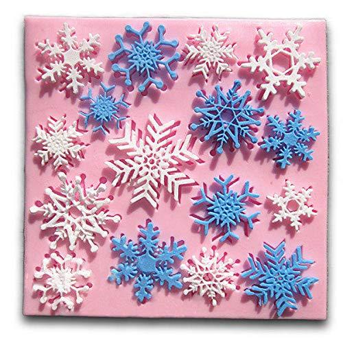 Kerstmis Sneeuwvlok Fondant Vorm Taart Siliconen Vorm Decoratie Gereedschap