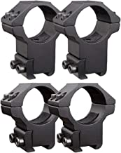 WENDGEN 1'' Scope Rings 2 Pack High Profile and 2 Pack Medium Profile 1 Inch Scope Mount Rings for 11mm Dovetail Rails