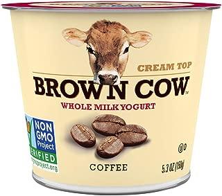 Brown Cow, Whole Milk Yogurt, Creamy Coffee, 5.3 oz