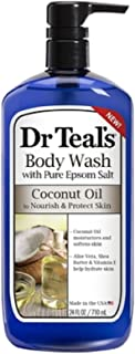 NEW Dr Teal's Body Wash with Pure Epsom Salt Coconut Oil Nourish & Protect Skin - 24 FL OZ/710ml