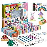 iFergoo Knete Soft Set 48 Farben Clay, Polymer Ton Set gehören Kinderknete Modellierwerkzeuge und Schmuckzubehör, DIY Ofen backen Clay Set, praktischen Fähigkeiten von Kindern zu verbessern