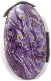 The Best Jewellery Charoite cabochon, 42Ct Natural Gemstone, Oval Shape Cabochon For Jewelry Making (38x21x5mm) SKU-14996