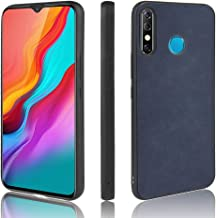 For Infinix Hot 8 / X650 Shockproof Sheep Skin PC + PU + TPU Case New (Light Black) XIEcute (Color : Blue)