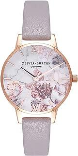 Olivia Burton Marble Floral White Dial Ladies Watch OB16CS14