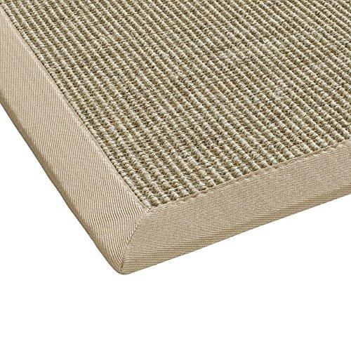 BODENMEISTER - Tappeto in sisal, Moderno e di Alta qualità, Tessuto Piatto, Orange Terra, 120 x 170