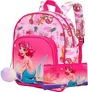 "Toddler Backpack, 12.5"" Mermaid Preschool Bag for Girls"