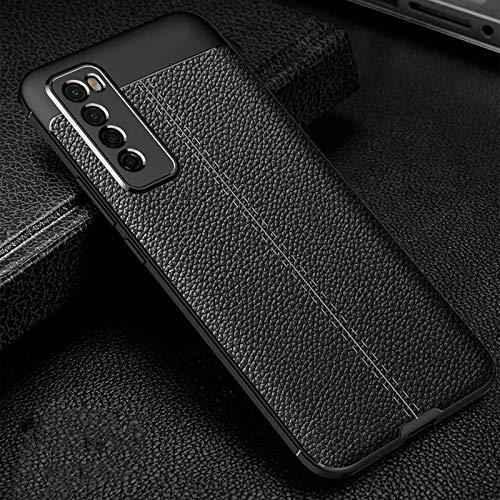 Adecuado para la carcasa del teléfono móvil Huawei nova7 nova6 litchi patrón nova5 / 4 / 3i funda protectora de silicona 2s anticaída nova7pro