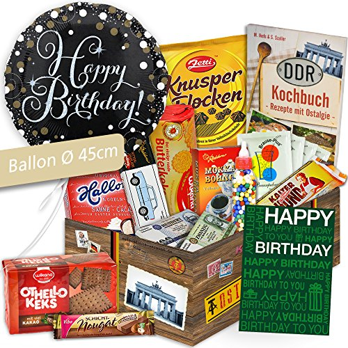 Süßes Ostpaket - DDR Geschenkbox - Süßigkeiten Ostalgie - Geschenkidee für Papa