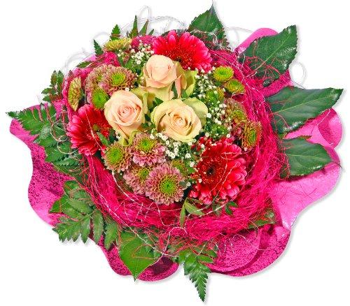 """Blumenstrauß Blumenversand """"Pretty in pink"""" +Gratis Grußkarte+Wunschtermin+Frischhaltemittel+Geschenkverpackung"""