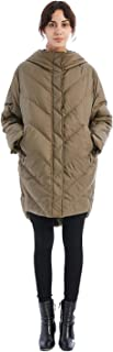 Women's Hooded Thickened Down Jacket Puffer Parka Coats Turned into Down Soft U-Shape Neck Travel Pillow