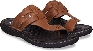 ID Men's Tan Flip Flop