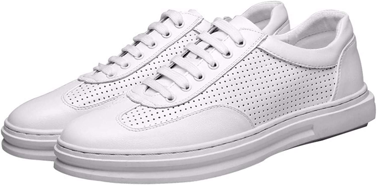 KMJBS Men'S shoes Sports And Leisure Summer Leather White shoes Increased Breathability.