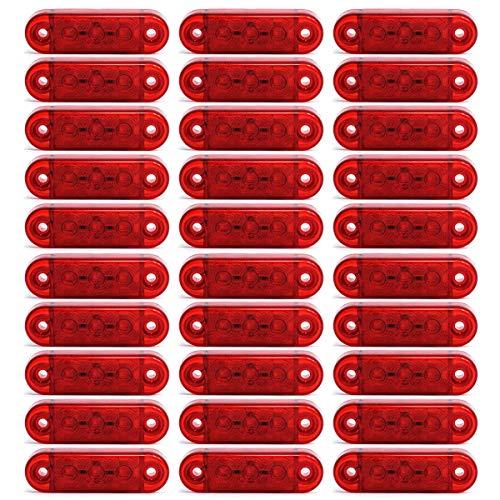 30x LED 12/24V Rot Begrenzungsleuchte Umrissleuchte Positionsleuchte LKW PKW