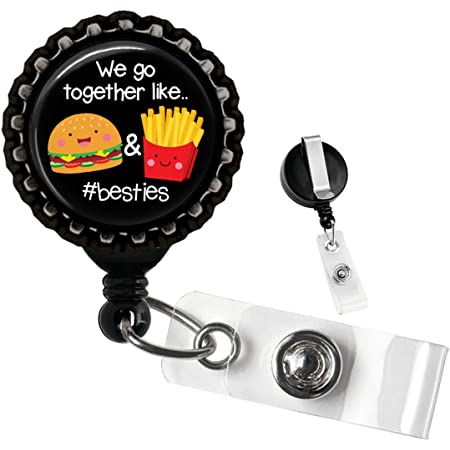 French fry badge reel add on