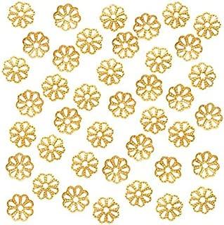 Best gold filigree bead caps Reviews