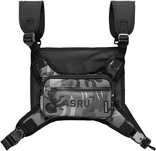 lowest Outdoor Sports Chest Bag Waterproof Tactical Chest Bag with Reflective Print and outlet sale Headphone Jack wholesale Running Vest Bag for Running Traveling Hiking Cycling online