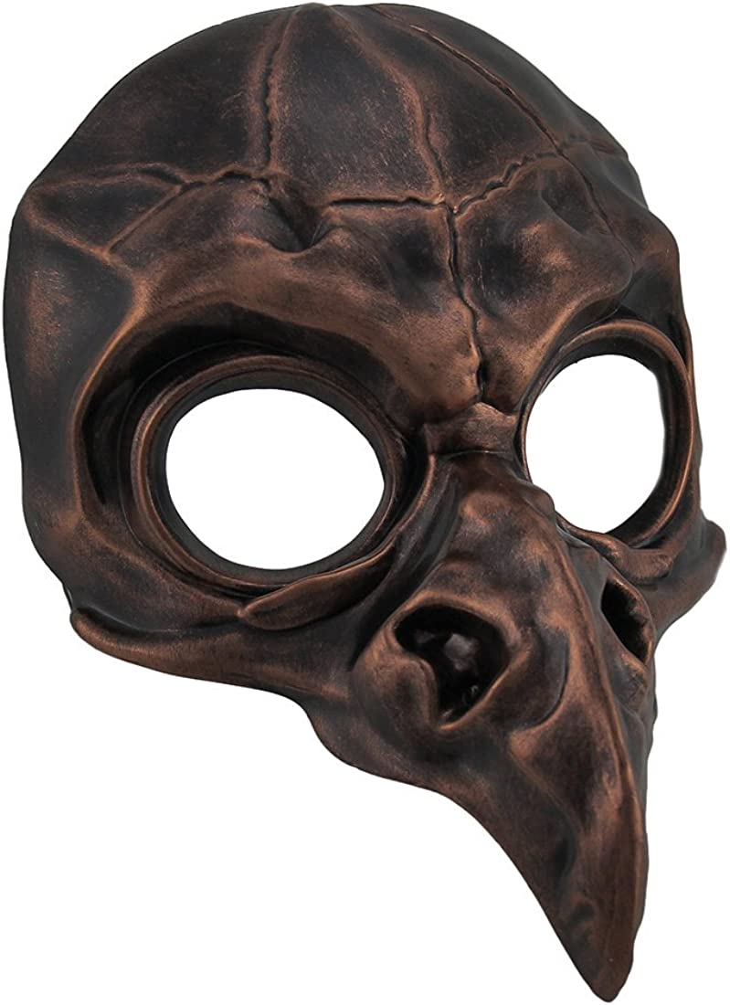 Steampunk Crow Skull Leather Mask