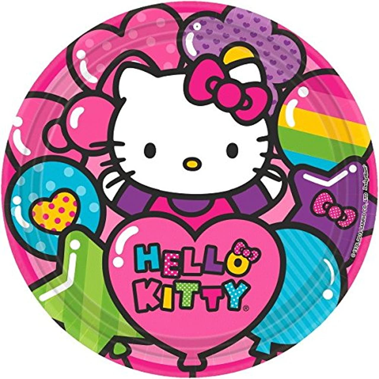 Round Plates | Hello Kitty Rainbow Collection | Party Accessory