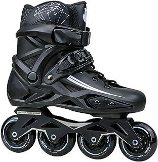 インラインスケート 大人用 ローラースケート 子供用 女の子 男の子 初心者向け ジュニアローラーブレード 子ども メッシュ 通気性抜群 プロの男性と女性 スケート 黒