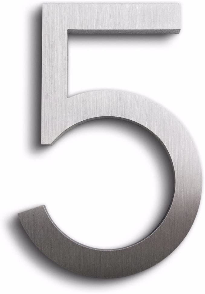 Modern House Clearance SALE! Limited time! Number Aluminum Five 5-8 Topics on TV Font inch