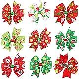 Longsing Noël Fille Pinces À Cheveux 8Pcs Belle Boutique Bowknot Crocodile Cheveux Clip Accessoires pour Bébé Enfants Kid