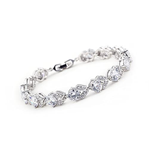 Silver Solitaire Friendship TENNIS Bracelet with Crystals from CZ