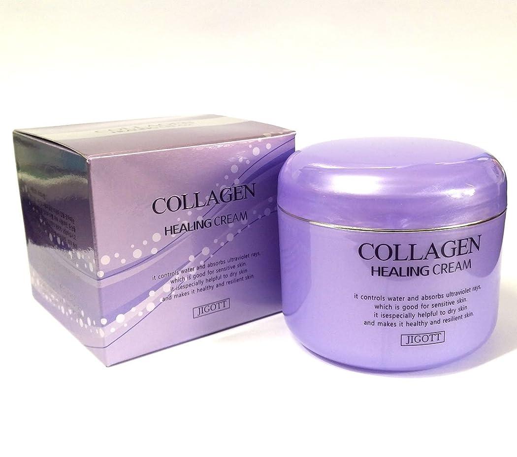 軸認めるひまわり[JIGOTT] コラーゲンヒーリングクリーム100g/Collagen Healing Cream 100g/保湿、栄養/韓国化粧品/moisturizing,nourishing/Korean Cosmetics (2EA) [並行輸入品]