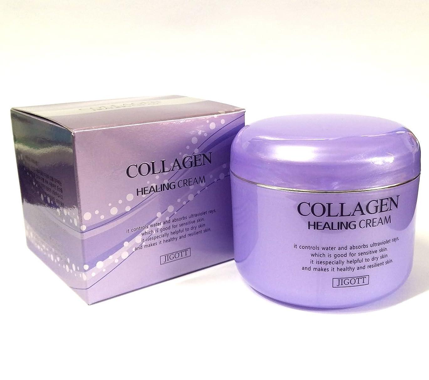 ポータル透明にラビリンス[JIGOTT] コラーゲンヒーリングクリーム100g/Collagen Healing Cream 100g/保湿、栄養/韓国化粧品/moisturizing,nourishing/Korean Cosmetics (1EA) [並行輸入品]