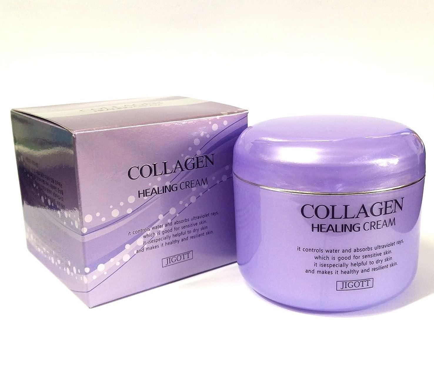 ラグ忙しい本質的ではない[JIGOTT] コラーゲンヒーリングクリーム100g/Collagen Healing Cream 100g/保湿、栄養/韓国化粧品/moisturizing,nourishing/Korean Cosmetics (2EA) [並行輸入品]