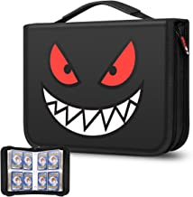 Brappo Card Holder Book Carrying Case for Pokemon Trading Cards, Holder Album Binder Compatible with 20 Premium 4-Pocket P...