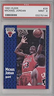 Michael Jordan PSA GRADED 9 (Basketball Card) 1991-92 Fleer - [Base] #29