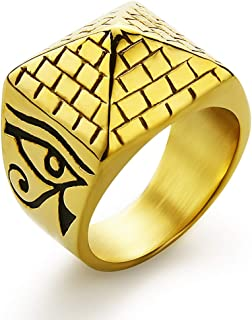 Best gold pyramid ring Reviews