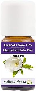 Maitreya Natura Ätherisches Öl MAGNOLIENBLÜTE, 15% IN JOJOBAÖL, 100% naturrein, 5ml - Aromatherapie, Diffusor, Massage, Kosmetik - kontrollierte und zertifizierte Qualität, cruelty free, vegan