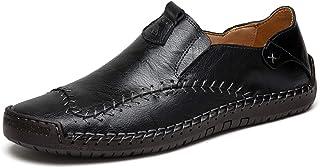 Chaussures d'uniformes habillées Hommes Mocassins Cuir Penny Loafers Conduite Bateau d'affaires Oxfords Ville Casual Soupl...