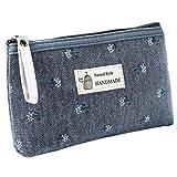 YSoutstripdu Women es Travel Storage Bag Flower Printed Canvas Women Cosmetic Pouch Purse Fass ' s...