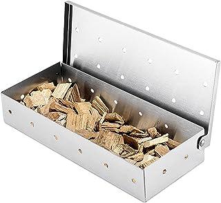 otutun Boîte à fumoir pour barbecue,Boîte à fumage fumoir de Table Generateur Fumée Froide Boîte à fumage en acier inoxyda...