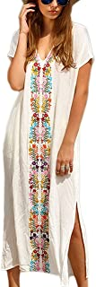 Women Beachwear Turkish Kaftans Long Swimsuit Cover up Caftan Beach Dress