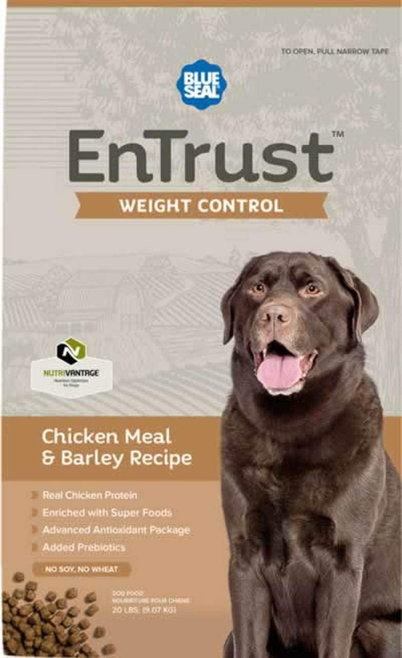 ENTRUST Weight Control Chicken Meal Recipe Dog SEAL Tampa Mall limited product Barley Premium